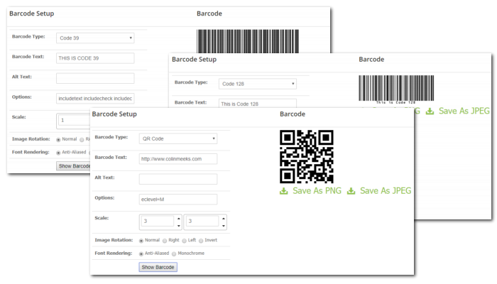 Barcode Creator Screenshots